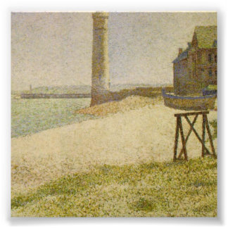 The Lighthouse at Honfleur by Georges Seurat Art Photo