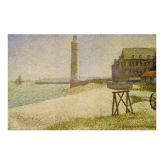 The Lighthouse at Honfleur by Georges Seurat Custom Stationery