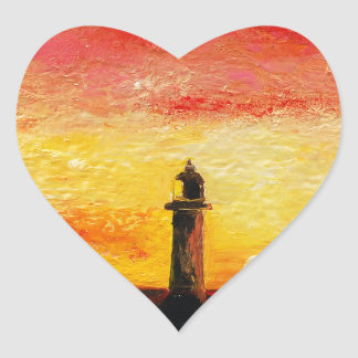 The Lighthouse Heart Sticker