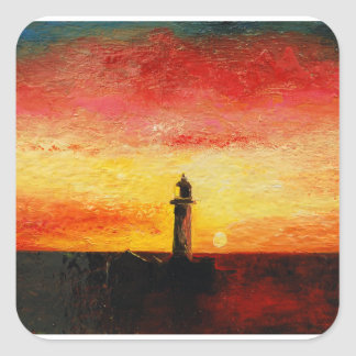 The Lighthouse Square Sticker