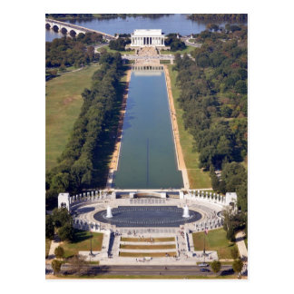 The Lincoln Memorial and World War II Memorial Postcard