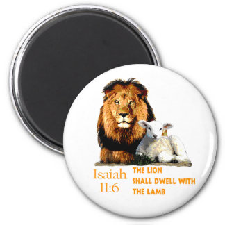 The Lion and the Lamb Isaiah 11:6 Magnet