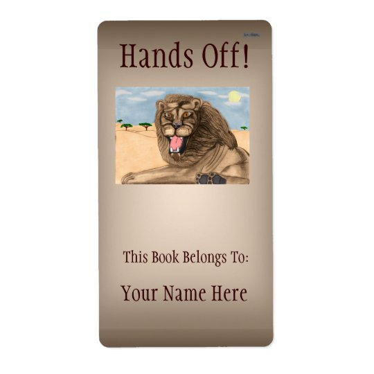 The Lion Bookplate Shipping Label