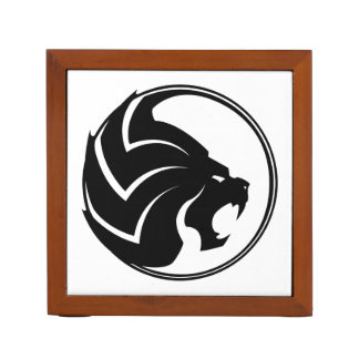 """""""The Lion"""" Desk Organizer Black & White Desk Organiser"""