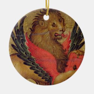The Lion of St. Mark (oil on panel) Ceramic Ornament