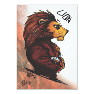 The Lion Post card