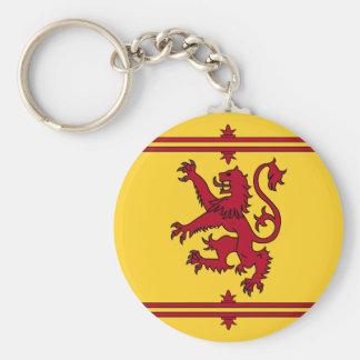 The Lion Rampant of Scotland Basic Round Button Key Ring