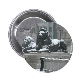 The Lions-Trafalgar Square London Pinback Button