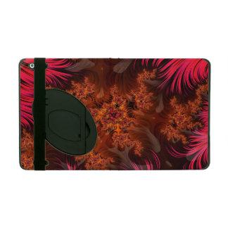 The Liquid Lava Heart of a Fractal Volcano iPad Folio Case