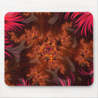 The Liquid Lava Heart of a Fractal Volcano Mouse Pad