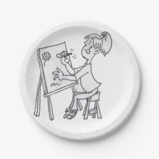 The Little Artist Paper Plate