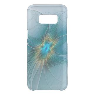 The little Beauty Modern Blue Gold Fractal Flower Uncommon Samsung Galaxy S8 Case