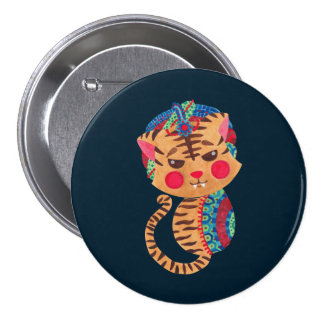 The Little Bengal Tiger 7.5 Cm Round Badge