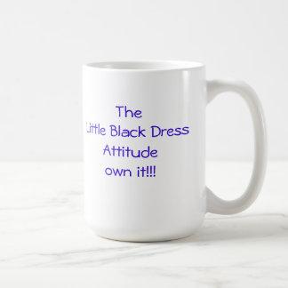 the little black dress attitude basic white mug