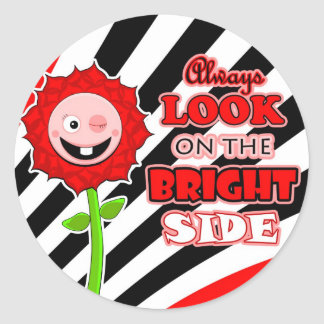 The Little Bloomers Always Look on the Bright Side Round Sticker