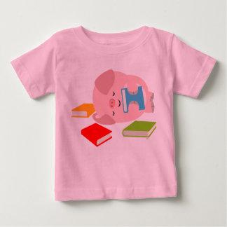 The Little Book Lover (Cartoon Pig) Baby T-Shirt