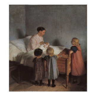 The little brother by Anna Ancher Print