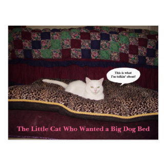 The Little Cat Who Wanted a Big Dog Bed Postcard