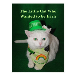 The Little Cat Who Wanted to be Irish Postcard
