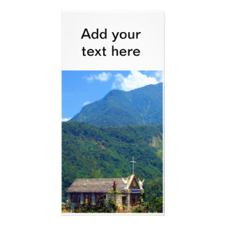 The Little Church in the Mountains Photo Greeting Card