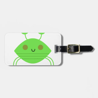 The little cute Crab on white Luggage Tag