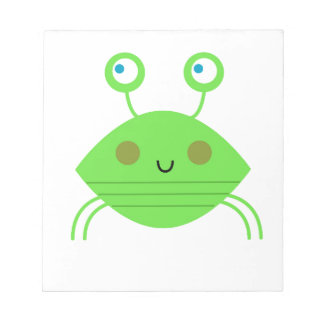 The little cute Crab on white Notepad
