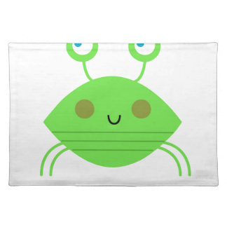 The little cute Crab on white Placemat
