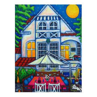 The Little Festive House By Lisa Lorenz Postcard