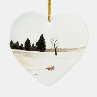 The Little Fox Ceramic Ornament
