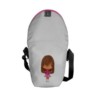 The little girl in the pink dress courier bags