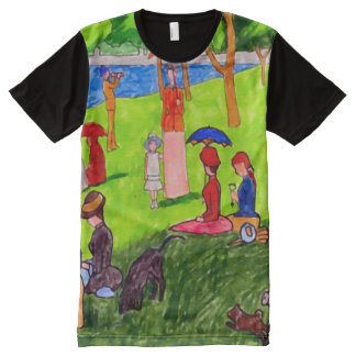 The Little Girl Watercolor Creation Art All-Over Print T-Shirt