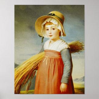 The Little Gleaner, 1824 Poster