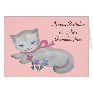 The Little Kitten Birthday Card