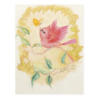 The Little Male Cardinal Art Cards Postcard