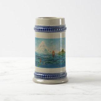 The little Mermaid seascape painting Beer Stein