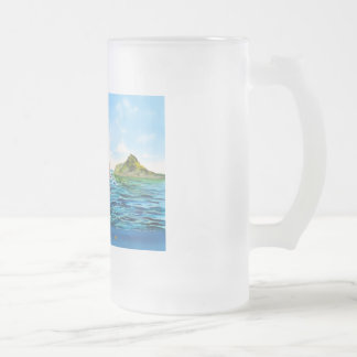 The little Mermaid seascape painting Frosted Glass Beer Mug
