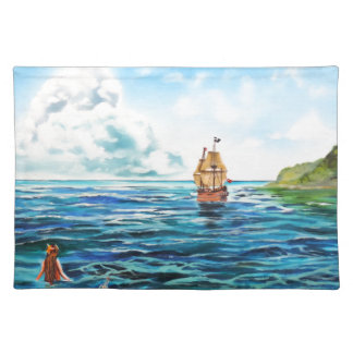 The little Mermaid seascape painting Placemat