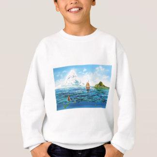 The little Mermaid seascape painting Sweatshirt
