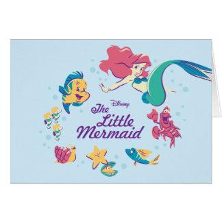 The Little Mermaid & the Sea Card