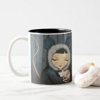 The Little Mouse Princessl Two-Tone Coffee Mug
