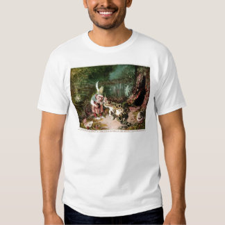 The Little Old Man of the Woods Mural Vintage Tee Shirts