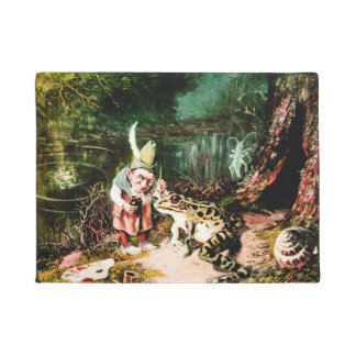 The Little Old Man of the Woods Vintage Fairy Tale Doormat