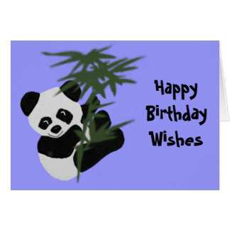The Little Panda Birthday Wishes Card