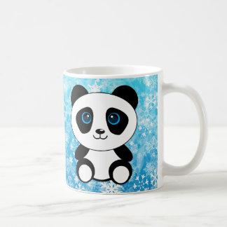 The Little Panda on a Snowy Day Coffee Mug
