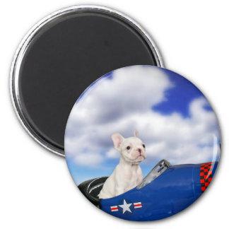 The little pilot 6 cm round magnet