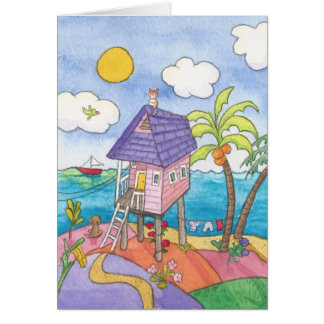 The Little Pink House Card