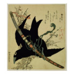 The Little Raven with the Minamoto clan sword Poster