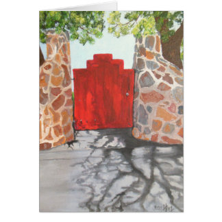 The Little Red Gate Note Card