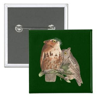 The Little Screech Owl(Bubo asio) Pin