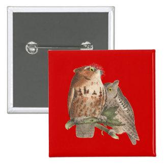 The Little Screech Owl Bubo asio Pinback Buttons